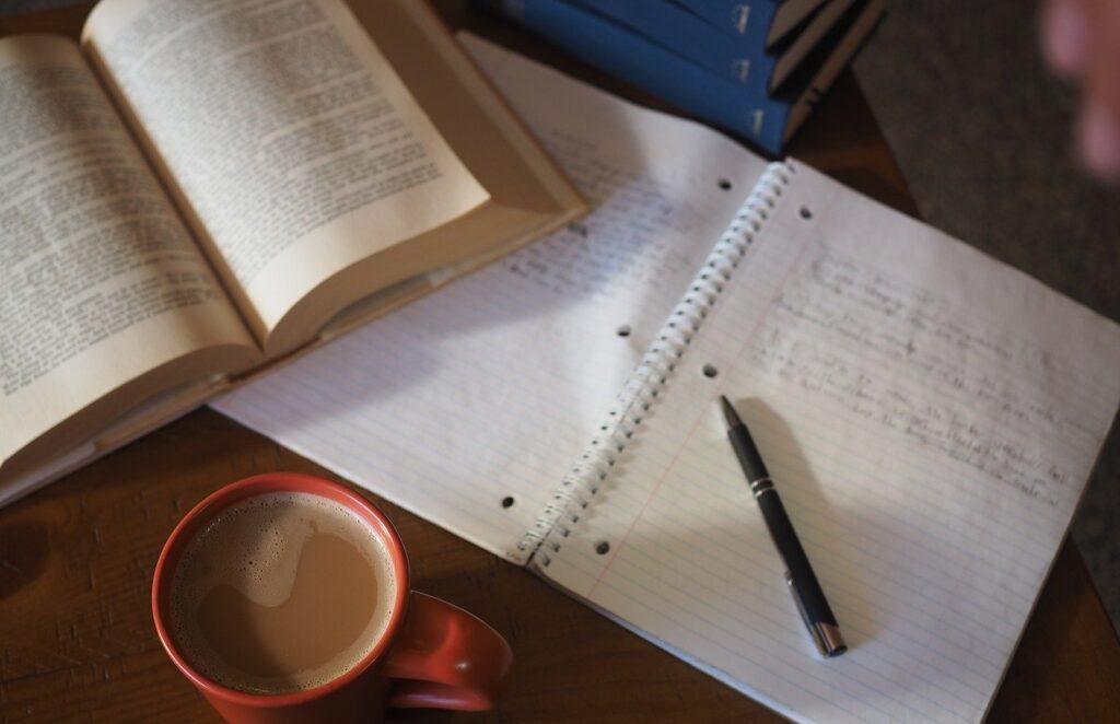 coffee, school, homework